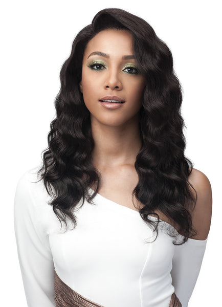 Bobbi Boss Unprocessed Remy Bundle Hair Full Lace Wig BNGLWOC20 OCEAN WAVE 20""