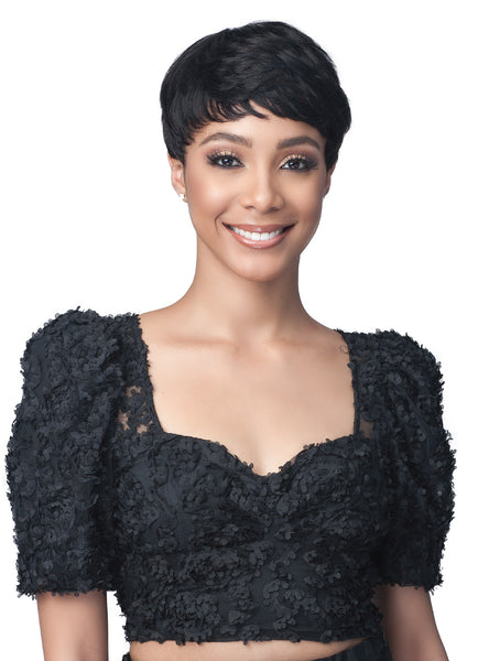 Bobbi Boss Unprocessed Human Hair Pixe Crush Wig MH1270 AVERIL