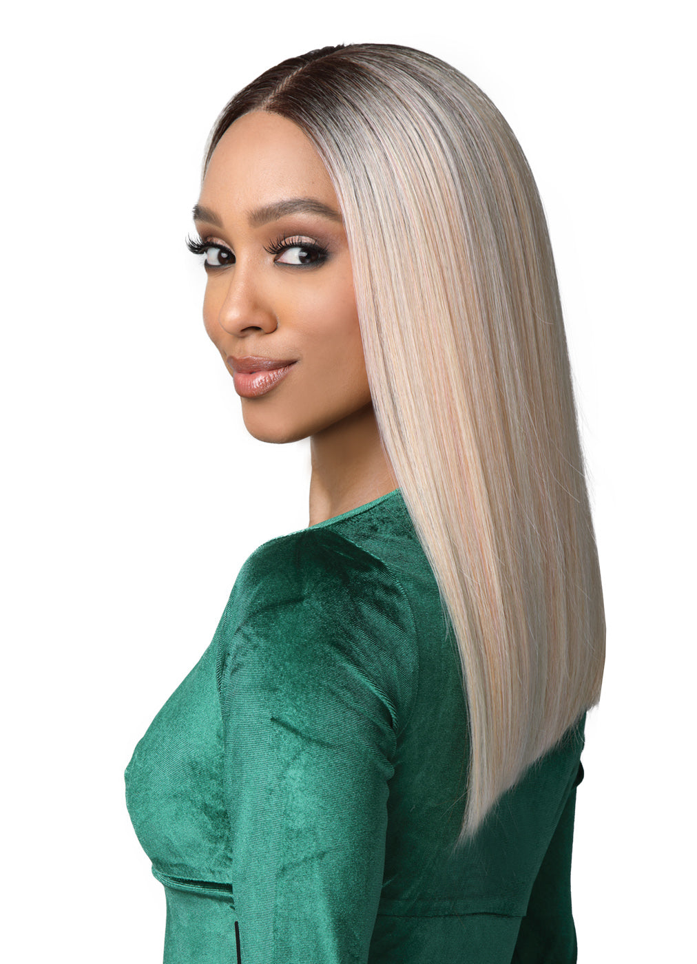 Bobbi Boss Synthetic Hair 13x5 HD Frontal Lace Wig MLF470 CHERIE