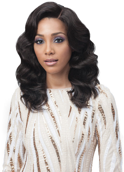 Bobbi Boss Unprocessed Remy Bundle Hair Full Lace Wig BNGLWOC16 OCEAN WAVE 16""