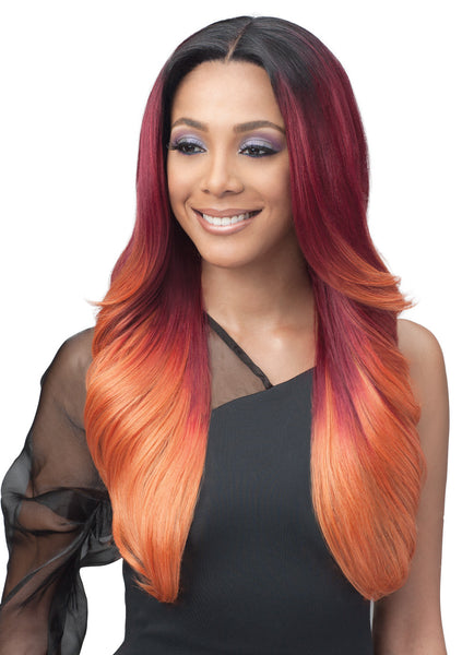 Bobbi Boss Human Hair Blend 13X7 Glueless Frontal Lace Wig MBLF001 ALIVIA