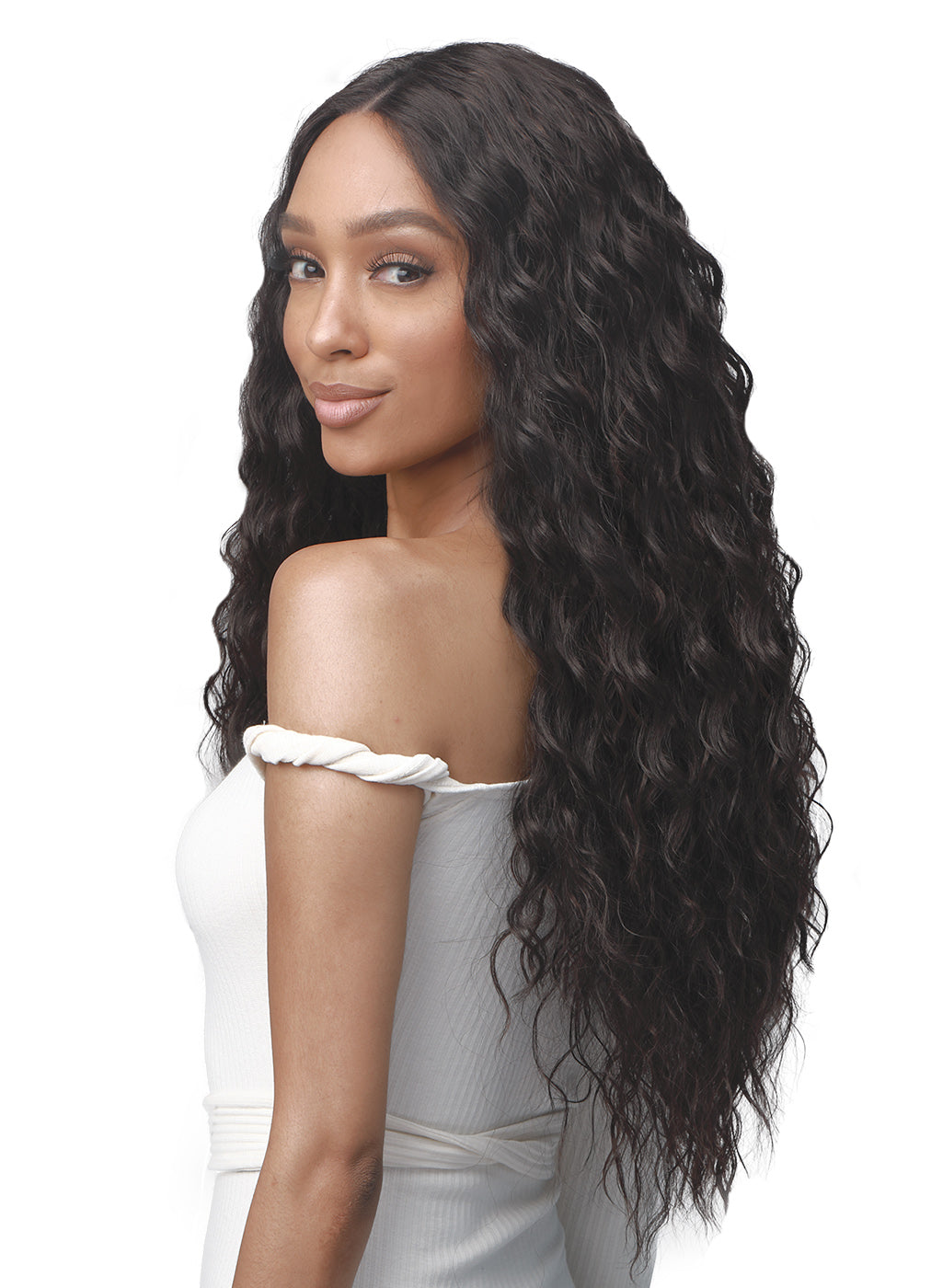 Bobbi Boss Deep Lace Part Synthetic Wig MLF463 OLIVE
