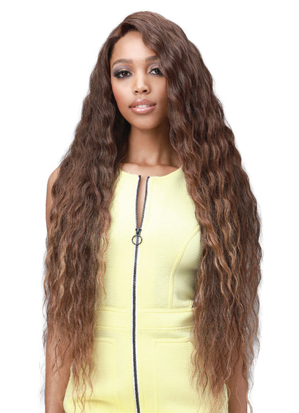 Bobbi Boss Human Hair Blend 13X7 Glueless Frontal Lace Wig MBLF003 ELIZA