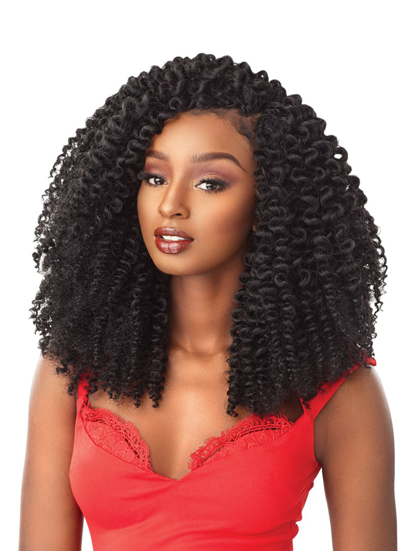 Sensationnel African Collection SNAP 3x Pre-Looped Crochet Braid BANTU KNOT OUT 12 Inch
