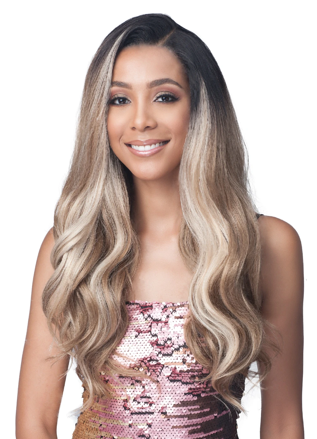 Bobbi Boss Synthetic Hair 360 13x4 Glueless Frontal Lace Wig MLF413 TEAGAN