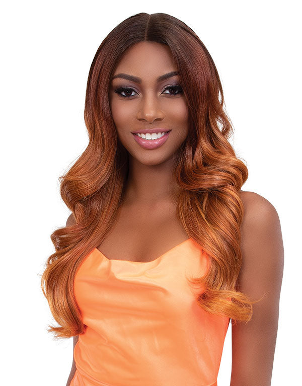 Janet Collection Synthetic Swiss Lace Front Wig Color Me GABY