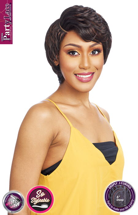 "Vanessa Party Lace Synthetic Hair 6"" Deep J Part Wig DJ SHEREE"
