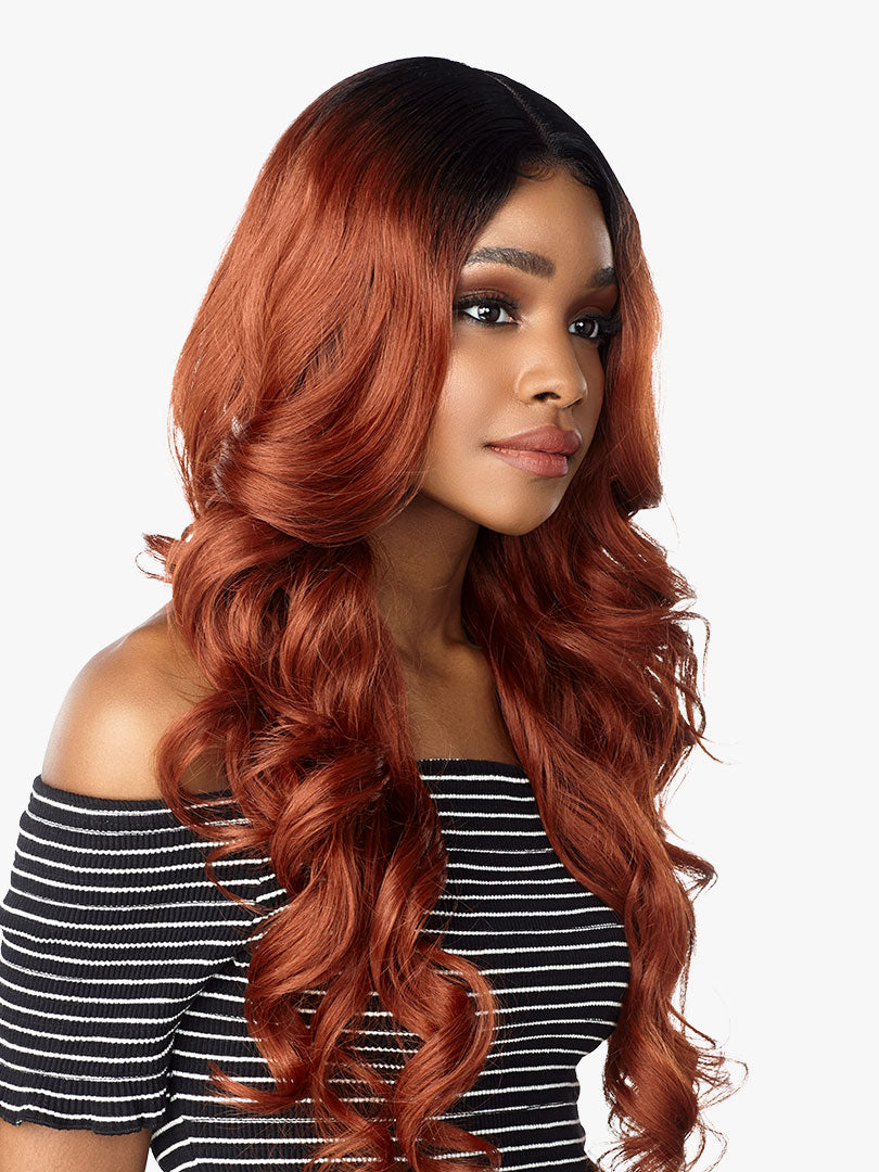Sensationnel Synthetic Hair Empress Natural Deep Part Lace Front Wig ZANIYA