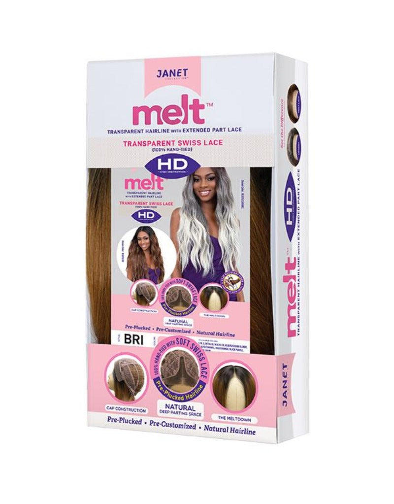 Janet Collection Synthetic Melt Extended Deep HD Part Lace Wig BRI