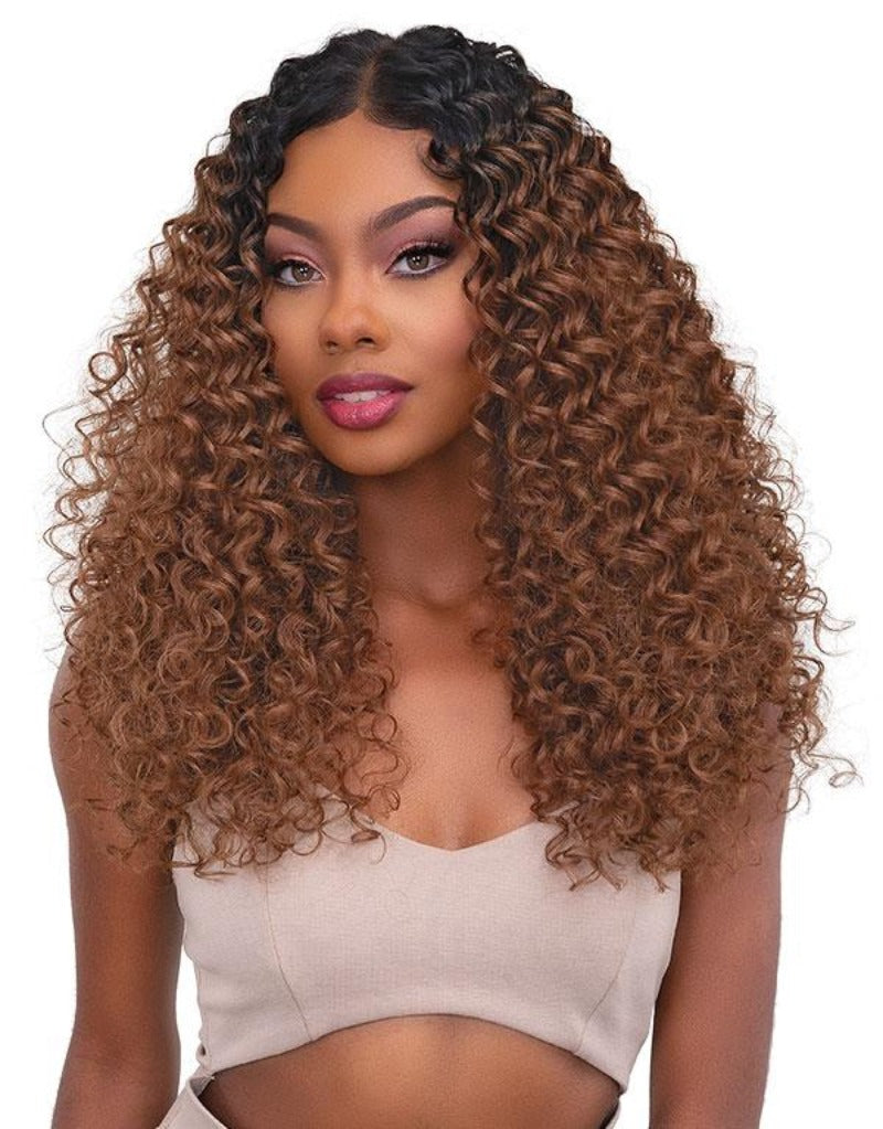 Janet Collection Synthetic Melt Extended Deep HD Part Lace Wig  DEE