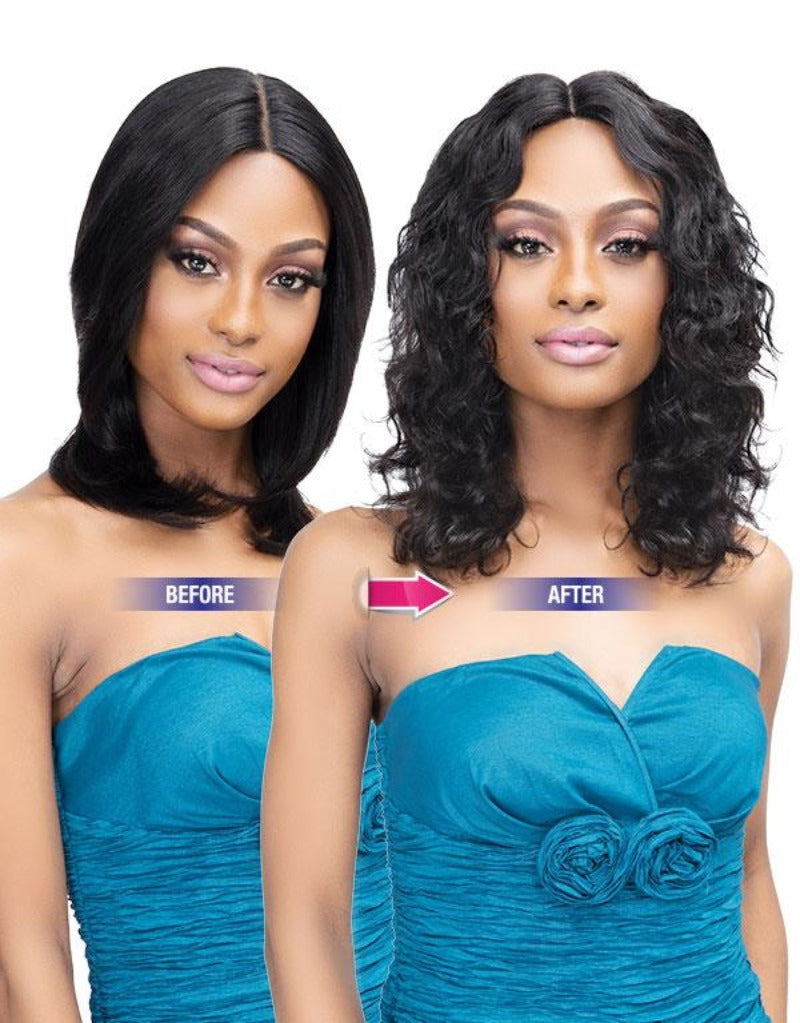 Janet Collection Virgin Remy Indian Hair LUSCIOUS WET N WAVY LACE WIG NOVA