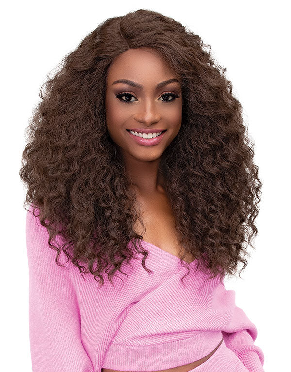 Janet Collection Synthetic Melt Extended Part Swiss Lace Front Wig ALYSSA