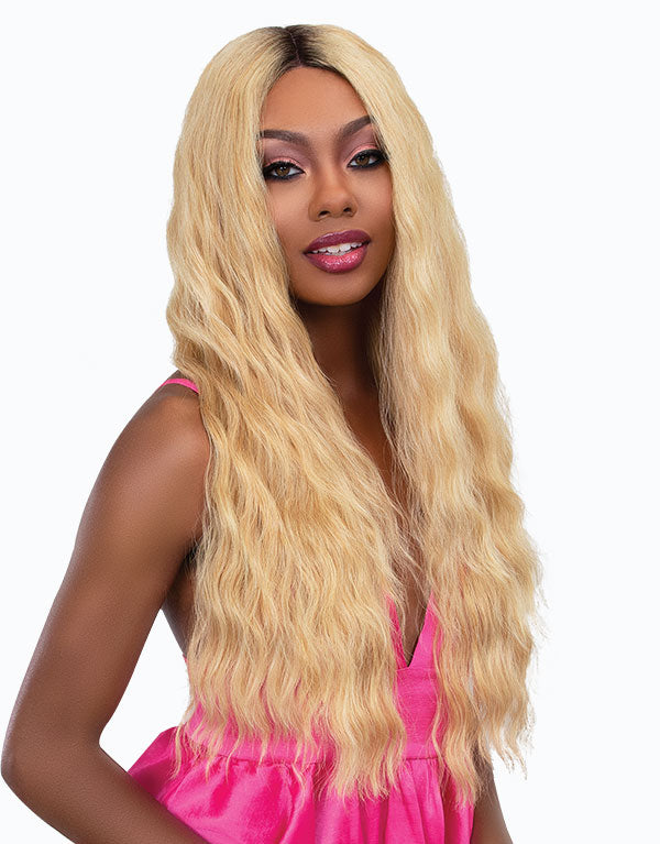 Janet Collection Synthetic Melt Extended Part Swiss Lace Front Wig ANGEL