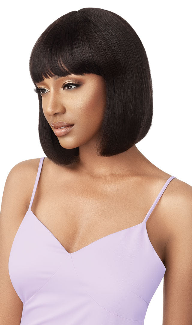 Outre Wet and Wavy Unprocessed Human Hair Full Wig JERRY BOB