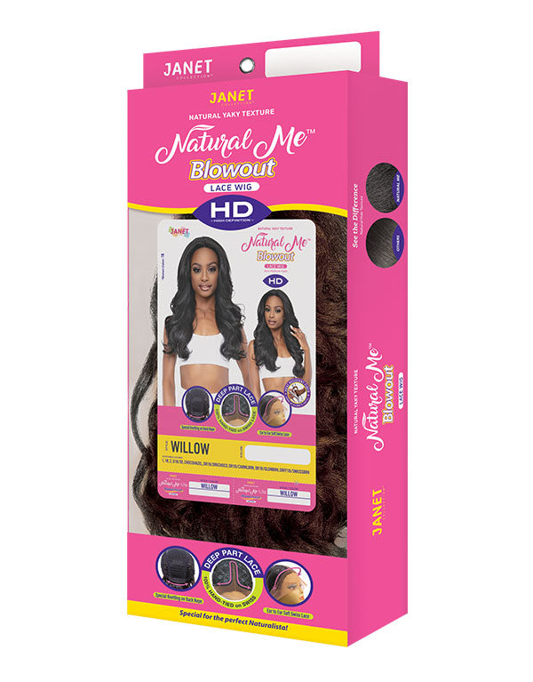 Janet Collection Natural Me Blowout Synthetic Hair HD Lace Wig WILLOW