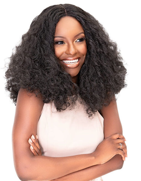 Janet Collection Hair Blend Natural Me Deep Part Swiss Lace Front Wig JENNA (discount applied)