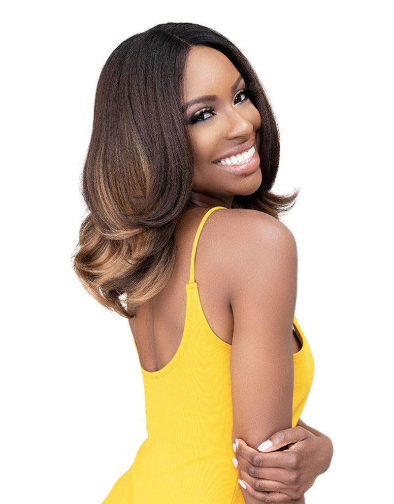 Janet Collection Natural Me Lite Blowout Synthetic Hair HD Lace Wig ULLA