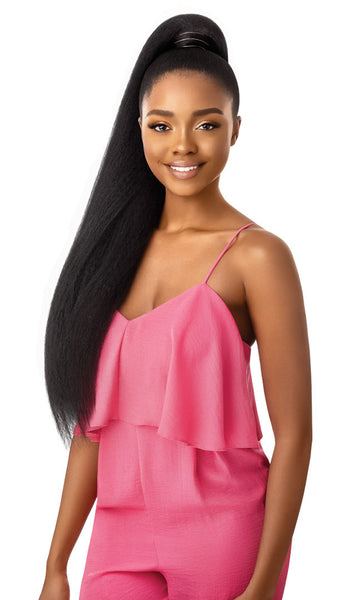Outre Synthetic Pretty Quick Wrap Ponytail JUMBO KINKY STRAIGHT 30""