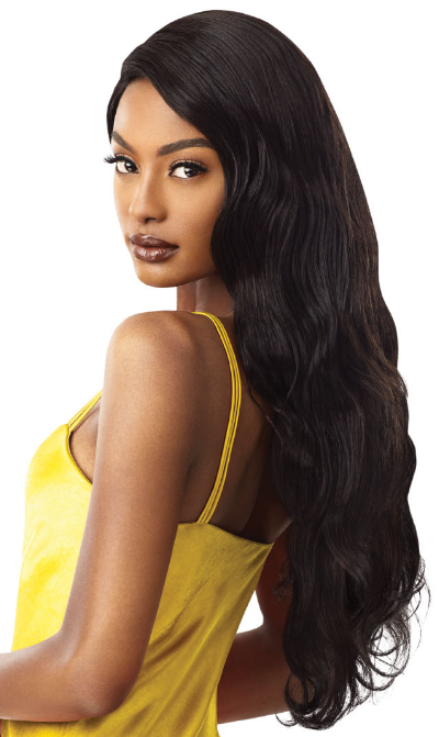 Outre 100% Unprocessed Human Hair Lace Front Wig NATURAL WAVE 28