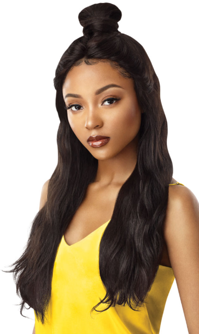 Outre 100% Unprocessed Human Hair Lace Front Wig NATURAL WAVE 26