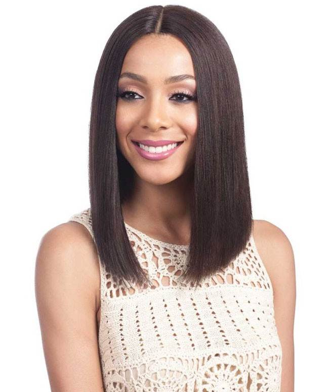 "Bobbi Boss Human Hair 5"" Deep Part Lace Front Wig MHLF900 BINARA"