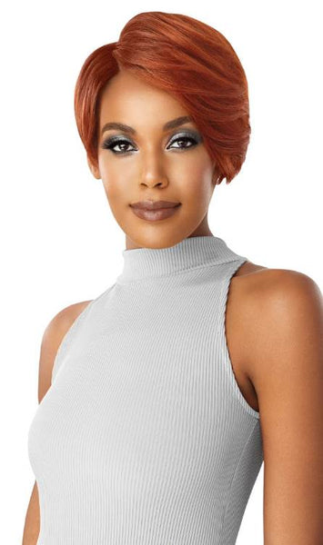"Outre Human Hair Duby Diamond 6"" Lace Part Lace Front Wig SWOOPED BANG"