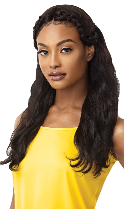 Outre 100% Unprocessed Human Hair Lace Front Wig NATURAL WAVE 24
