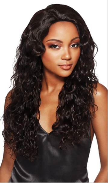 "Outre MyTresses Black Label 13"" X 4"" Lace 100% Unprocessed HH Full Lace Wig NATURAL BOHO BODY"