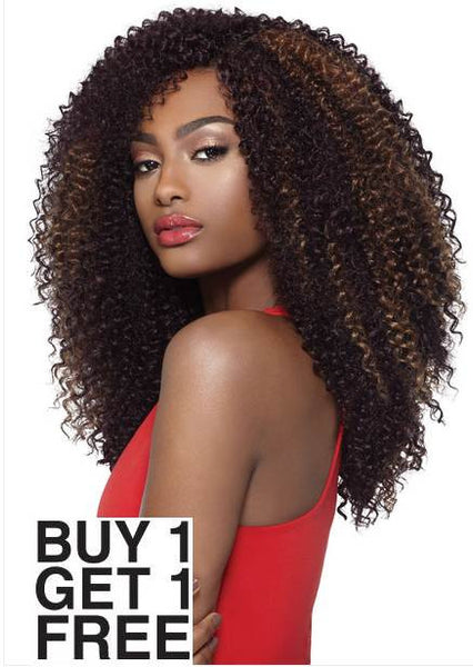 Outre X-Pression 4 In 1 Loop Crochet Braid KINKY CURL 14 Inch (B1G1)