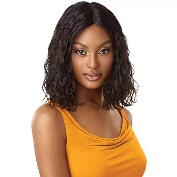 Outre 100% Unprocessed HH Lace Part Daily Wig CURLY BLUNT CUT BOB 14""