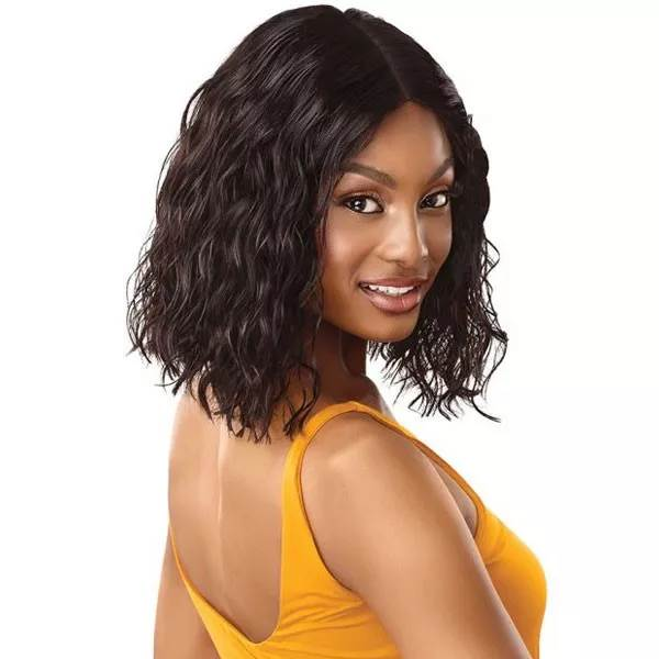 Outre 100% Unprocessed Human Hair Lace Part Daily Wig CURLY BLUNT CUT BOB 14""