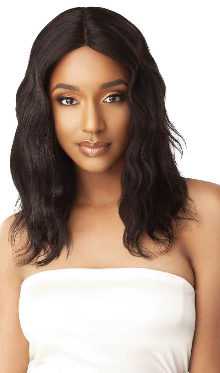 Outre Gold Label 100% Unprocessed Human Hair Lace Front Wig Natural Wave 20""