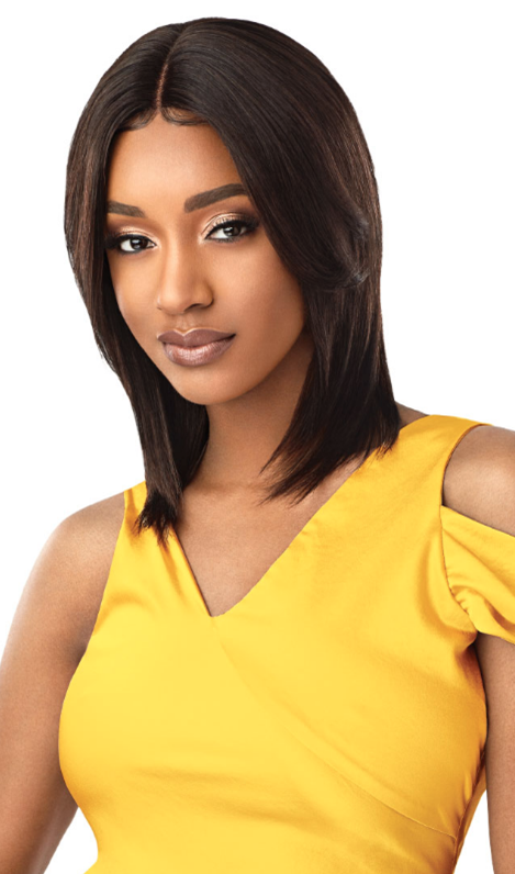 Outre Unprocessed Mytresses Gold Label Lace Front Wig NATURAL STRAIGHT 16-18""