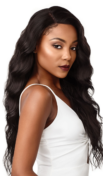 Outre & Play Human Hair Blend Bundle Edition 360 Lace Wig NATURAL LOOSE WAVE