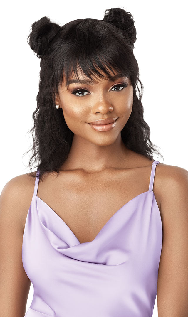 Outre Wet and Wavy Unprocessed Human Hair Full Wig LOOSE DEEP