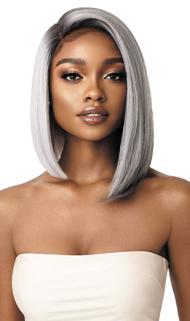 "Outre Synthetic Swiss Lace Front 5"" Deep I Parting Wig LENI"
