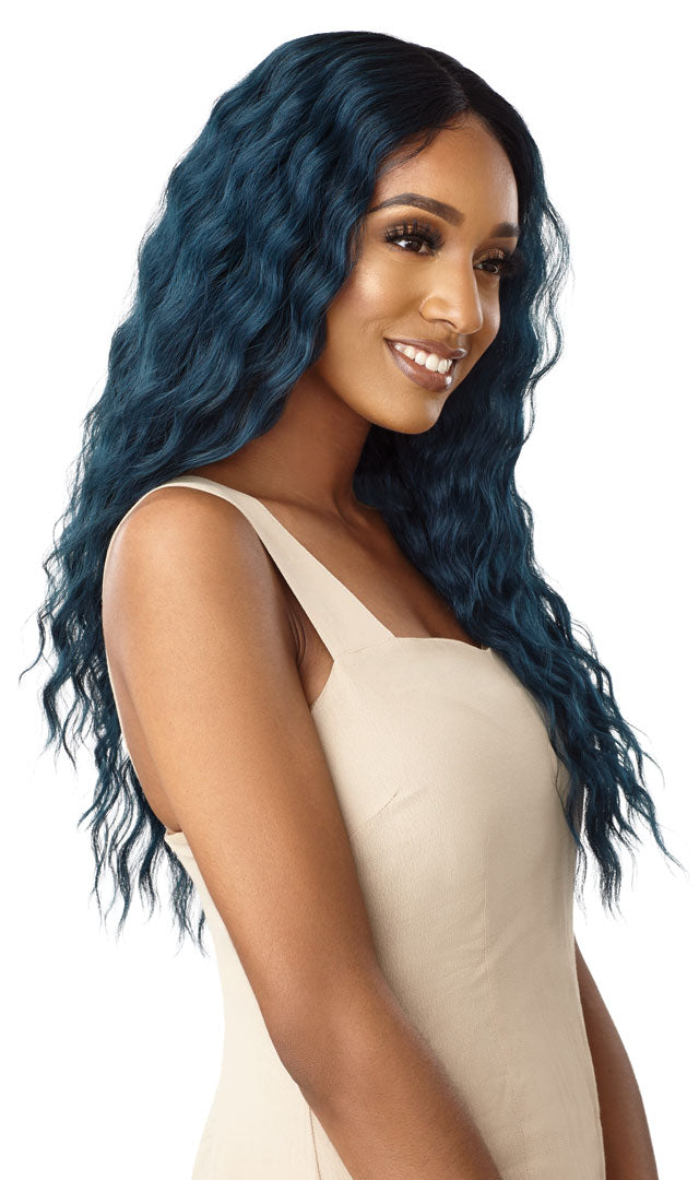 "Outre Synthetic Swiss Lace Front 5"" Deep I Part Wig LORELEI"