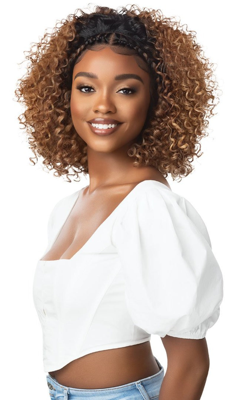 Outre Pre-Styled Synthetic 13×2 Lace Frontal Wig HALO STITCH BRAID 14″