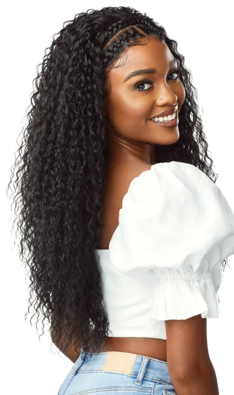 Outre Pre-Styled Synthetic 13×2 Lace Frontal Wig HALO STITCH BRAID 16″