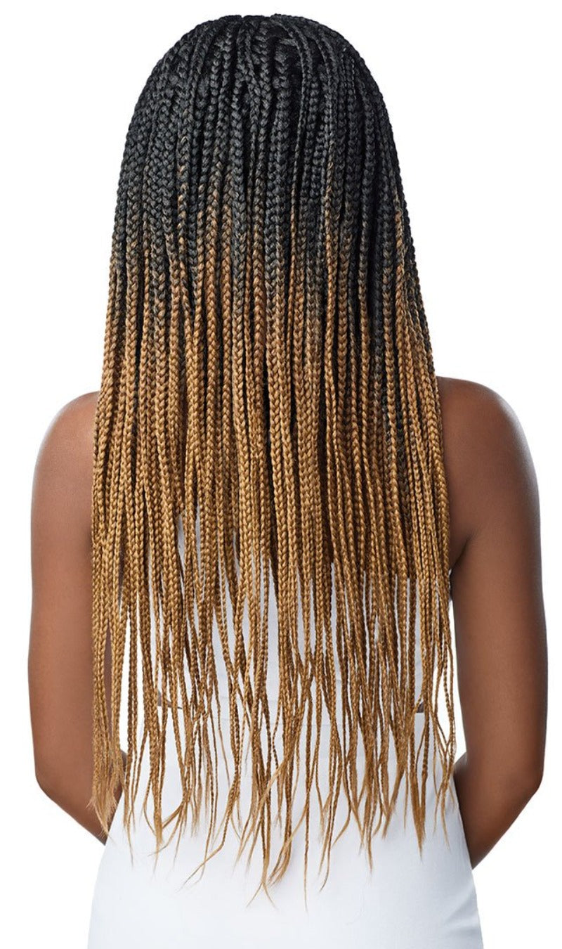 Outre Synthetic Pre-Braided 13X4 Lace Frontal Wig Knotless Triangle Braids