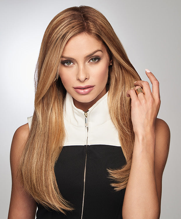Raquel Welch 100% Human Hair Monofilament Top Piece GILDED 18″