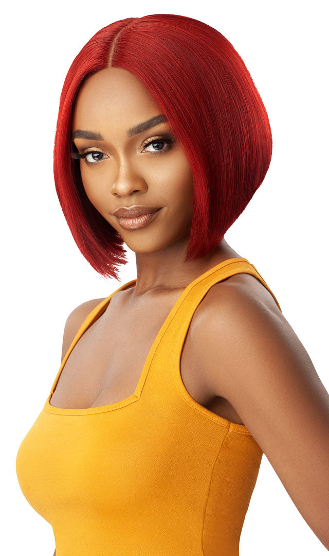 Outre Unprocessed Human Hair Lace Part Daily Wig BUMPED BOB 10