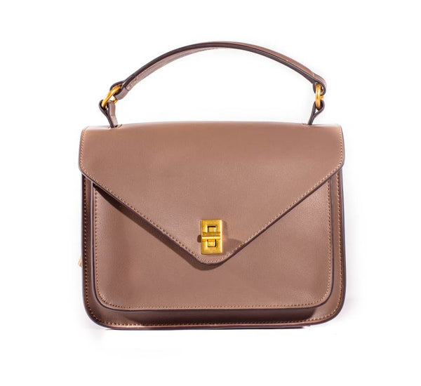 100% real leather ladies Caramel bag