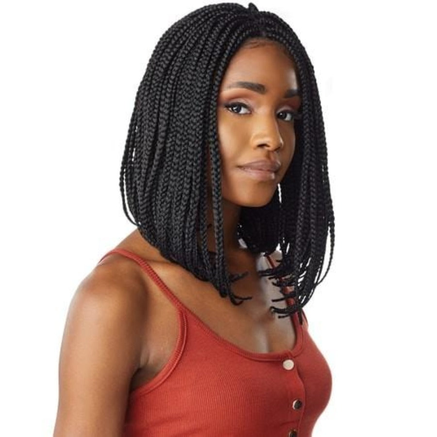 Sensationnel Cloud 9 Hand Braided Swiss Lace Front Wig BOX BRAID BOB