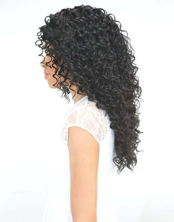 Janet Collection Brazilian Scent Human Hair Blend Lace Front Wig RAIN