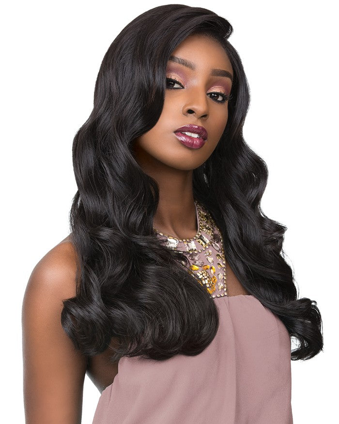 Cloud9 100% Full Hand-Tied HH Multi Parting Swiss Lace Front Wig BODY WAVE 22 Inch