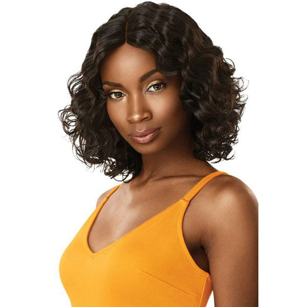 Outre 100% Unprocessed Human Hair Lace Part Daily Wig CURLY BOB 12""