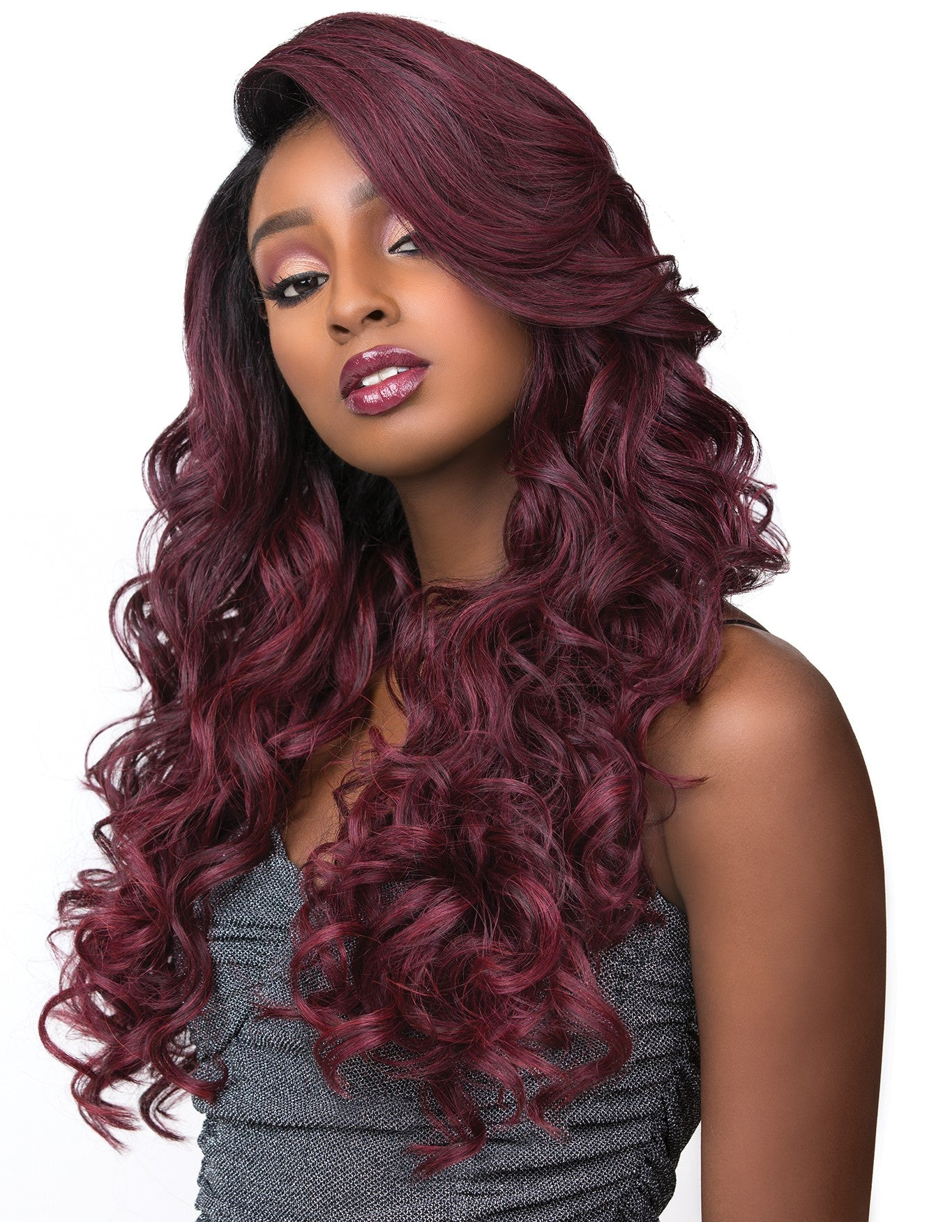 Sensationnel Empress Feather & Flare Lace Front Edge Wig ADRIANA