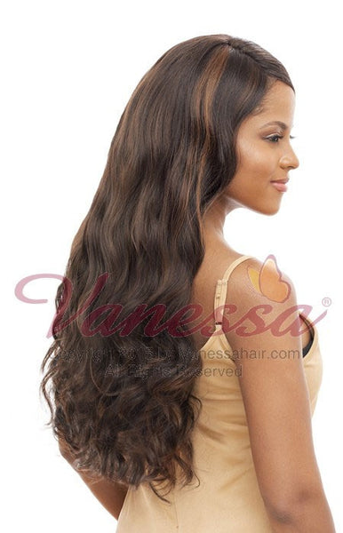 Vanessa Honey-4 Brazilian Human Hair Blend Lace Front Wig T4HB FACONY