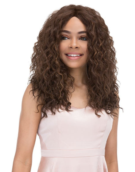 Janet Collection Natural Super Flow Deep Part Lace Front Wig GLORIA